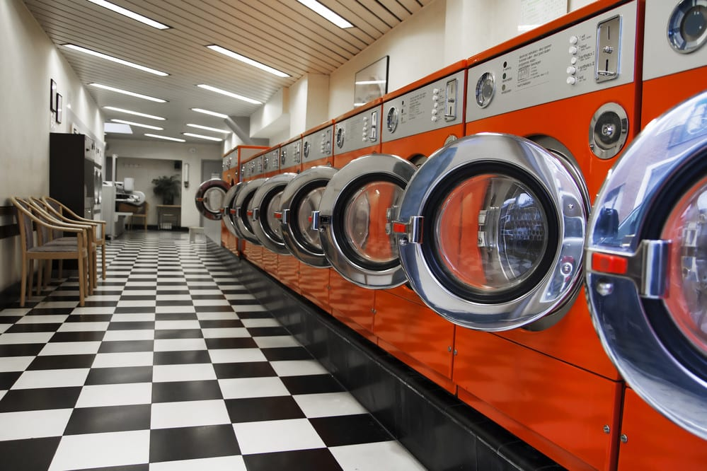Laundromat Interior, Clean and Bright